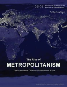 World map at night with regions lit up. The Rise of Metropolitanism