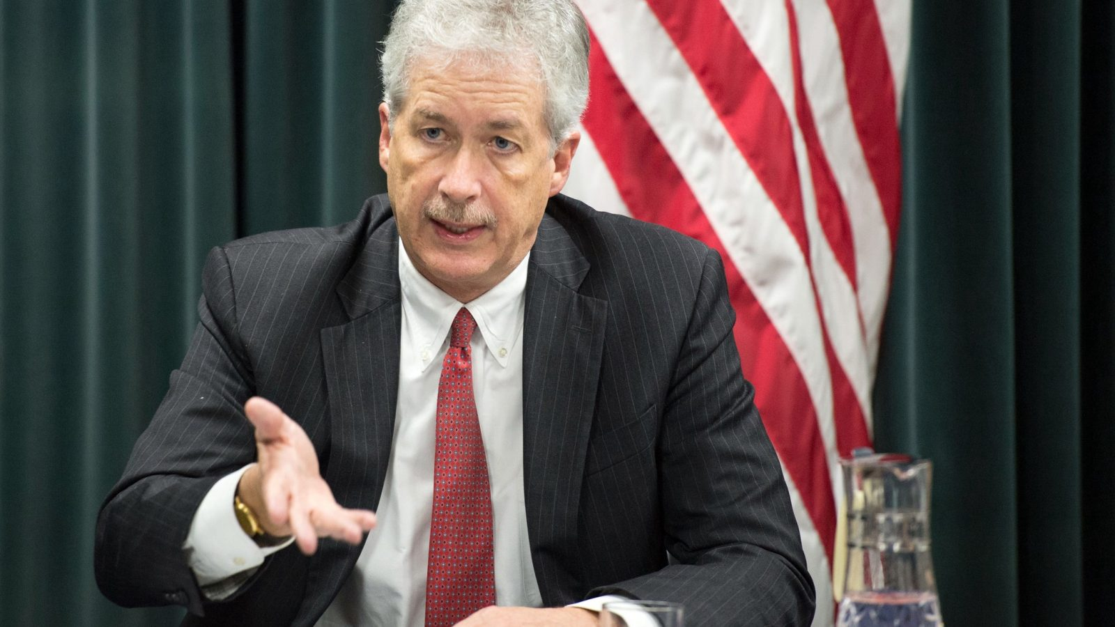 ISD board of advisers member Ambassador William J. Burns addresses the media during a visit to Tokyo, Japan, in 2014. Ambassador Burns served as deputy secretary of state during the Obama administration. (Image: State Department/Flickr)