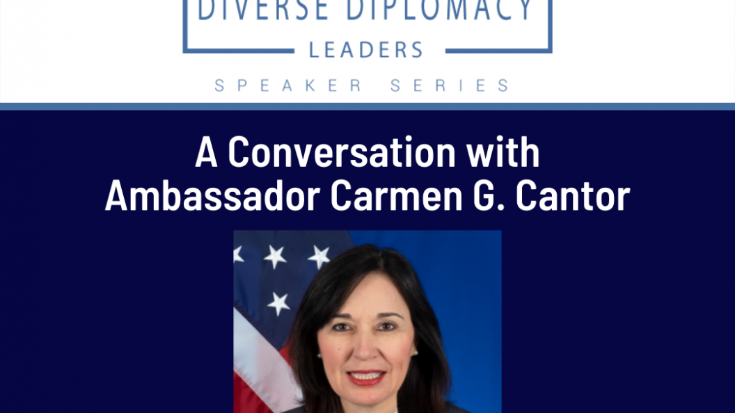 Graphic describing that the event with Ambassador Cantor will be on September 29th at 5:00pm EST.