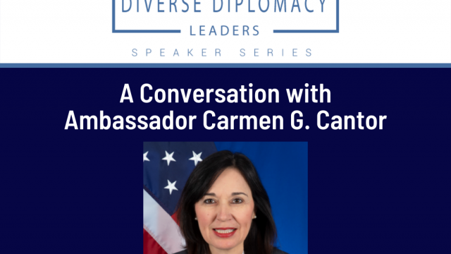 Image for the Wednesday, September 29th event with Ambassador Cantor