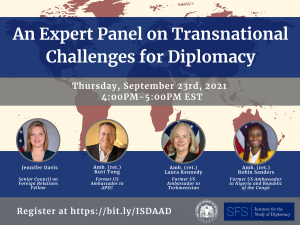 An Expert Panel on Transnational Challenges for Diplomacy